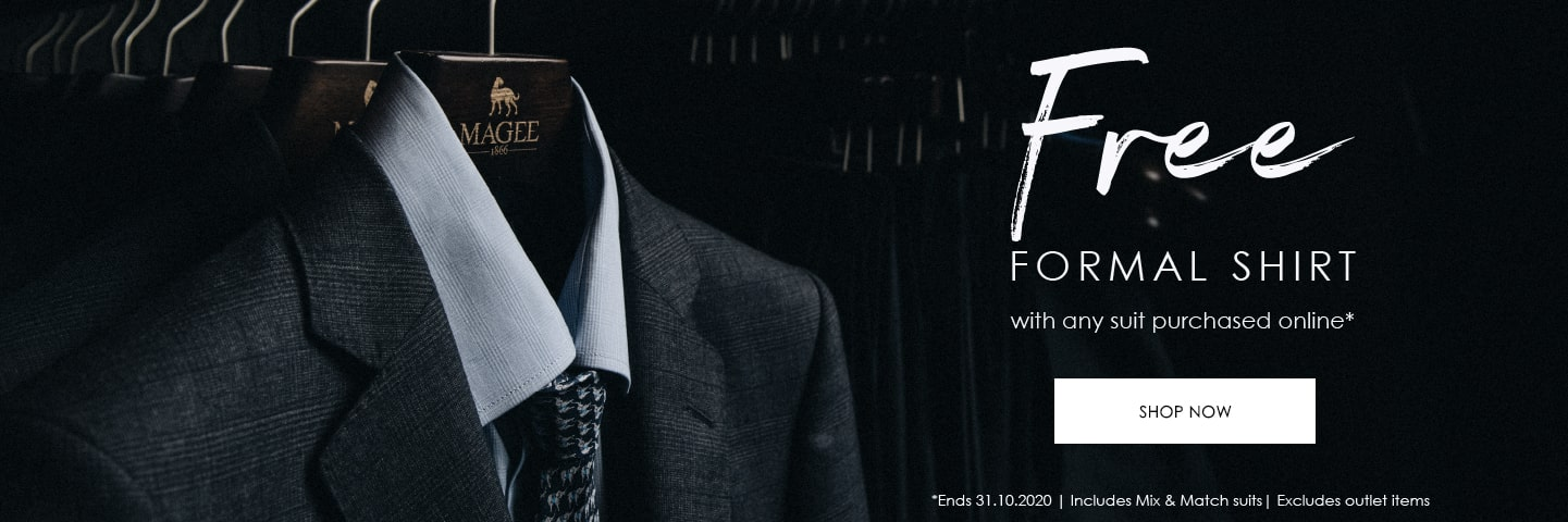 Magee 1866 Free Shirt with suit promo