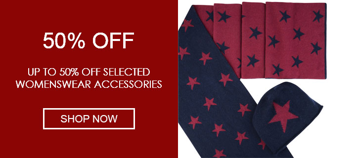 Up to 50% Off Selected Womenswear Accessories - Shop Now