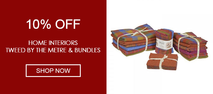 10% Off Tweed by the Metre & Bundles - Shop Now
