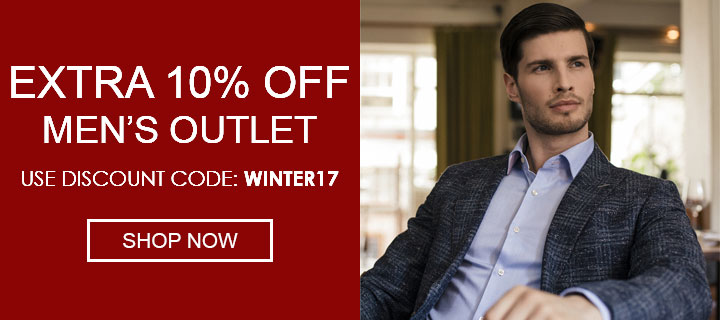 Extra 10% Off Outlet - Use Discount Code: WINTER17