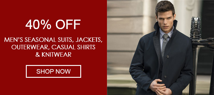 40% Off Selected Menswear - Shop Now
