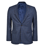 Blue & Rust Checked 3-Piece Tailored Fit Suit