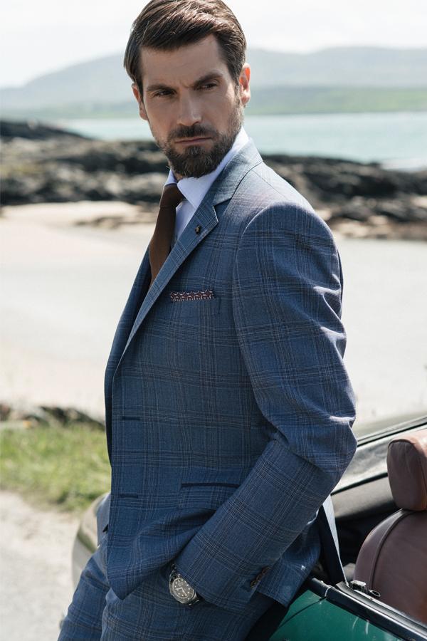 Fine Wool Check 3-Piece Suit