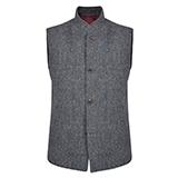 Grey Cavan Donegal Tweed Tailored Fit Gilet