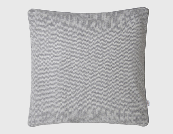 Grey Herringbone Donegal Tweed Cushion