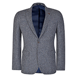 Grey Salt & Pepper Donegal Tweed Tailored Fit Jacket