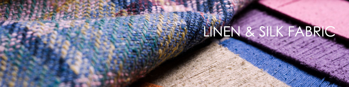 A unique collection of linen & silk fabric, available by the metre and suitable for Jackets, Coats, and Crafts.and suitable for Jackets, Coats, Outerwear, Craft, and Light Use Domestic Upholstery