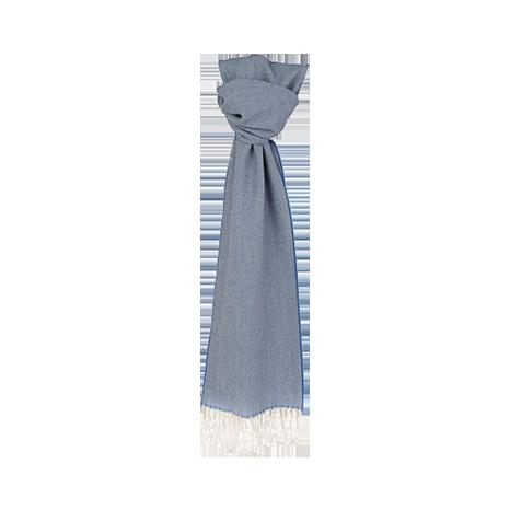 Magee 1866 Blue Herringbone Scarf
