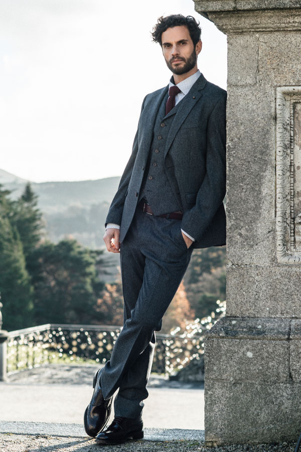 Grey Salt & Pepper 3-Piece Donegal Tweed Suit