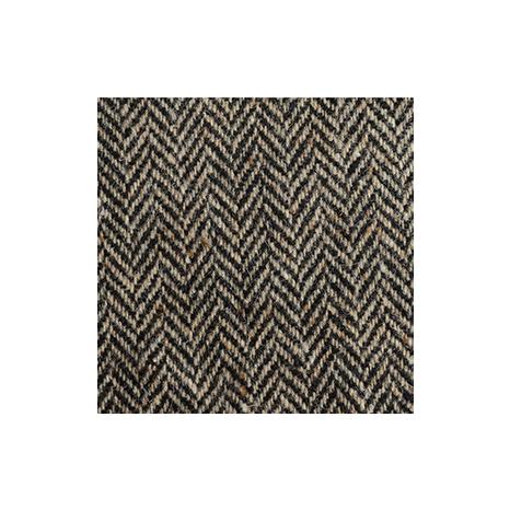 Black & Oat Herringbone, Flecked Donegal Tweed