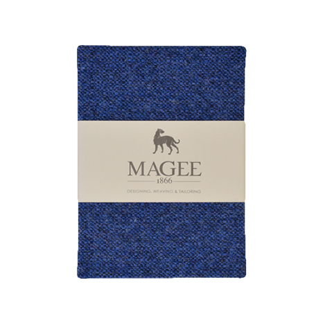 Blue Donegal Tweed Salt & Pepper Magee Note Book A6