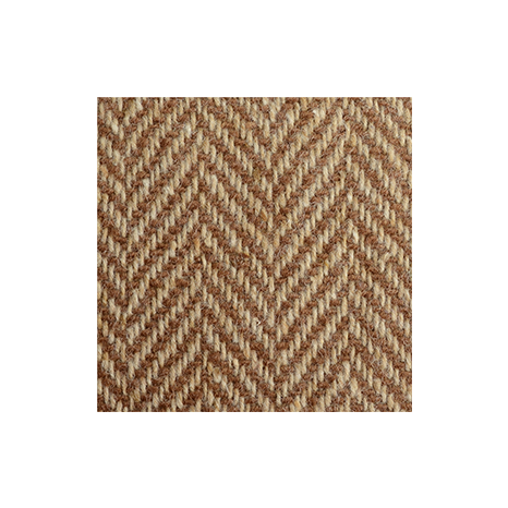 Brown & Oat Herringbone Donegal Tweed