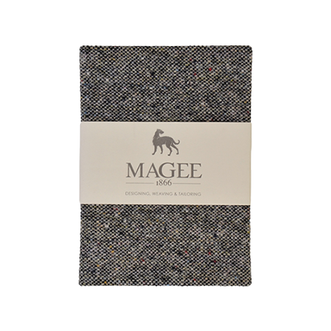 Grey Donegal Tweed Salt & Pepper Magee Note Book A6