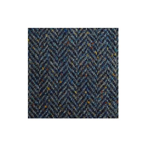 Navy & Blue Herringbone, Flecked Donegal Tweed