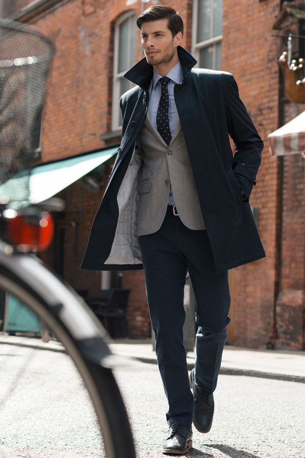 Dunuisce Navy Mac Overcoat