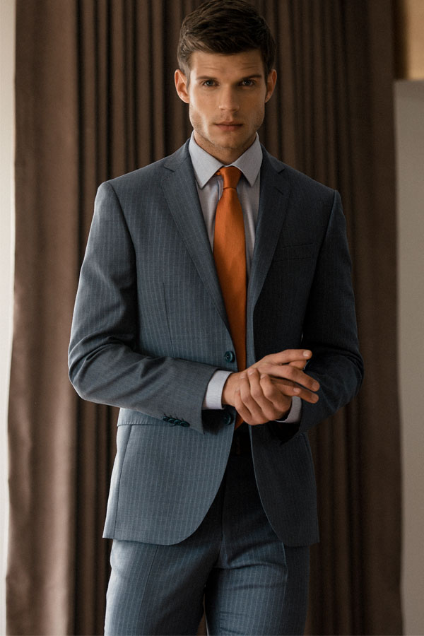 Nice Classic Fit Pinstripe 2-Piece Suit