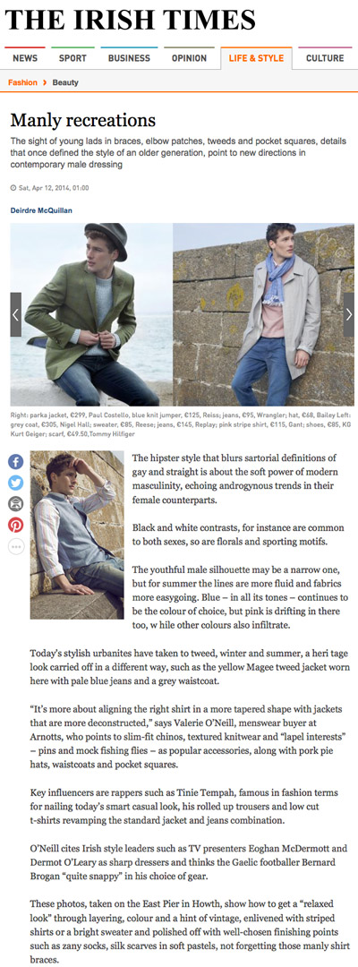 Irish Times - Manly Recreations