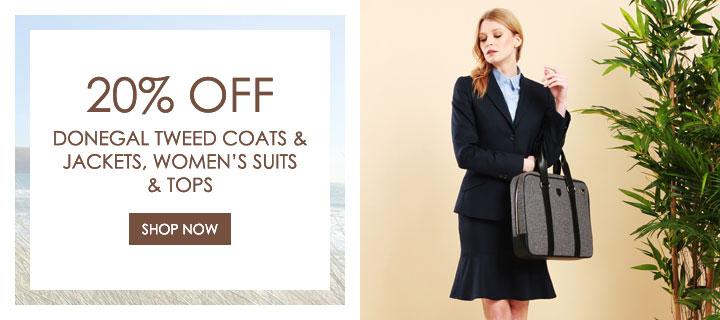 20% Off -Women's Suitings, Tweed Jackets & Coats