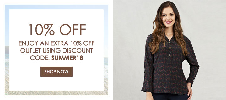 Extra 10% Off Outlet - Use Discount Code: SUMMER18