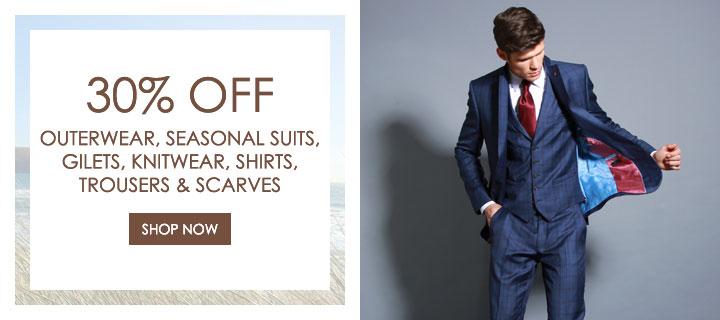 30% off selected menswear