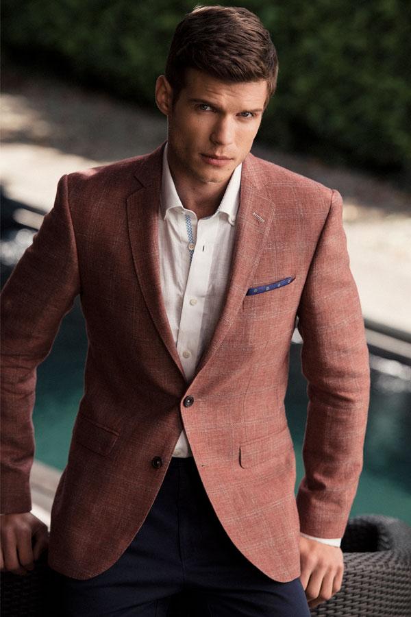 The Finn Tailored Fit Check Blazer