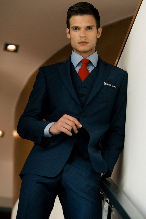 The Nice Classic Fit Pinstripe 3-Piece Suit