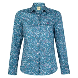 Magee Clothing Teal Liberty Print Floral Shirt