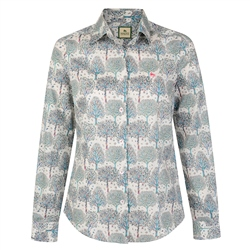 Magee Clothing Cream, Blue & Pink Liberty Print Shirt