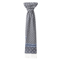 Magee Clothing Navy & White Diamond Scarf