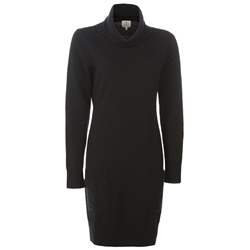Magee 1866 Black Wool & Cashmere Jumper Dress