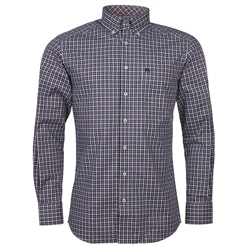 Magee Clothing Navy & White Checked Button Down Regular Fit Shirt