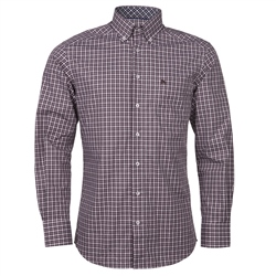 Magee Clothing Plum & White Checked Button Down Shirt
