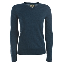 Magee Clothing Teal Merino Wool V Neck Jumper