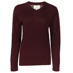 Magee 1866 Burgundy Merino Wool Jumper
