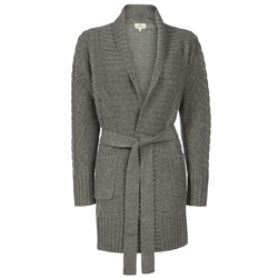 Magee 1866 Grey Chunky Wrap Around Cardigan