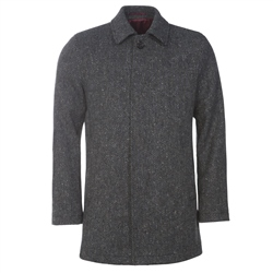 Magee Clothing Grey Donegal Tweed Herringbone Coat