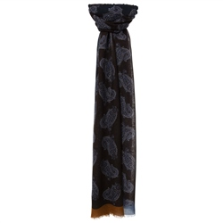 Magee Clothing Plum & Cobalt Blue Scarf.