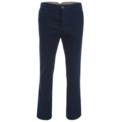 Magee 1866 Navy Straight Leg Cotton Tailored Fit Trousers