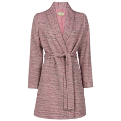 Magee Clothing Pink Geometric Donegal Tweed Clooney Cardigan Coat