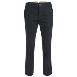 Magee 1866 Dark Navy Straight Leg Cotton Trousers