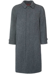 Magee Clothing Grey Donegal Tweed Herringbone Corrib Overcoat
