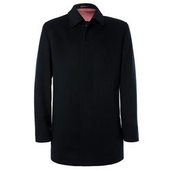 Magee Clothing Black Wool & Cashmere Issac Coat