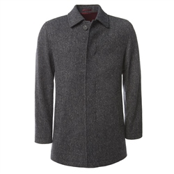 Magee Clothing Grey Salt & Pepper Donegal Tweed Coat