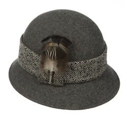 Magee Clothing Charcoal Laurel Cloche Hat