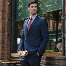 Navy Check 3-Piece Tailored Fit Suit Trouser