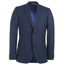 Navy Check 3 Piece Tailored Fit Suit Jacket