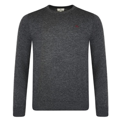 Magee Clothing Grey Merino Wool Crew Neck Jumper