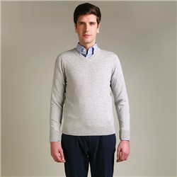Magee Clothing Cream Merino Wool V-Neck Jumper