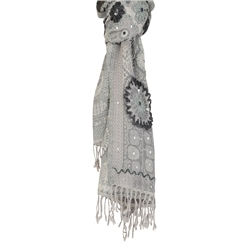 Magee Clothing Magee Grey & Silver Wool Scarf
