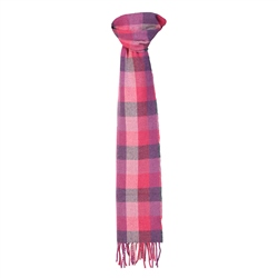 Magee Clothing Pink Luxury Herringbone Patchwork Scarf
